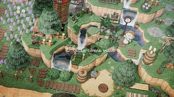 Can someone help me find the code for those wooden paths?