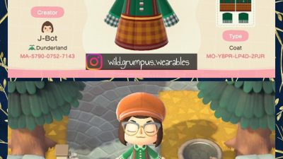 Animal Crossing: Cute checkered look!