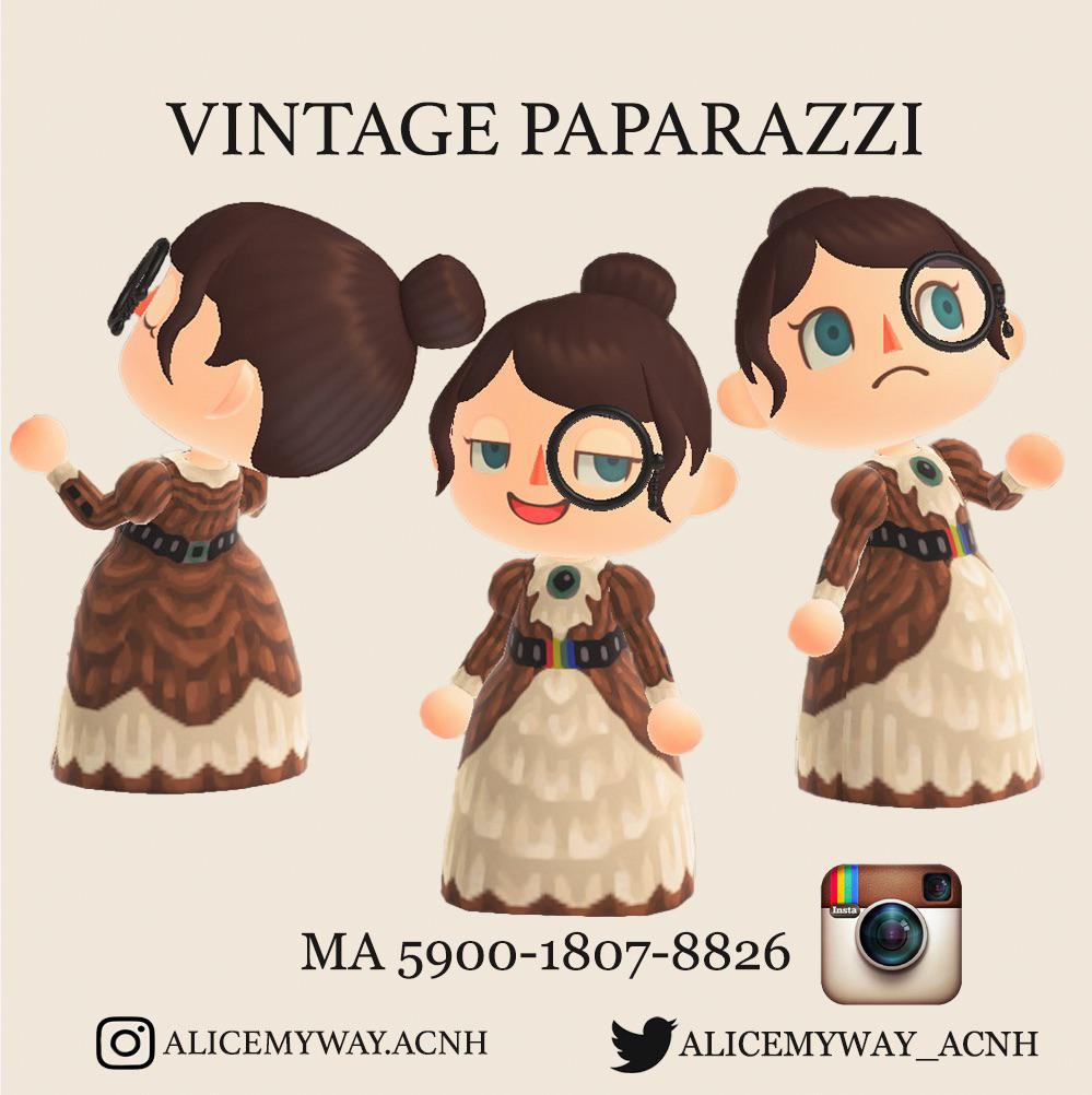 Designed the Vintage Paparazzi Dress inspired by Instagram Icon 2010-2016. Enjoy to Capture! TYSM. 🤎📸