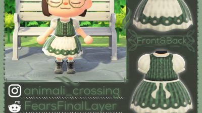 Animal Crossing: Did someone ask for a cottage-core outfit with an A-Prawn🦐? No? My crustacean puns may not fit, but Forest Glaze will as it's in all skin tones! As always, enjoy~<3