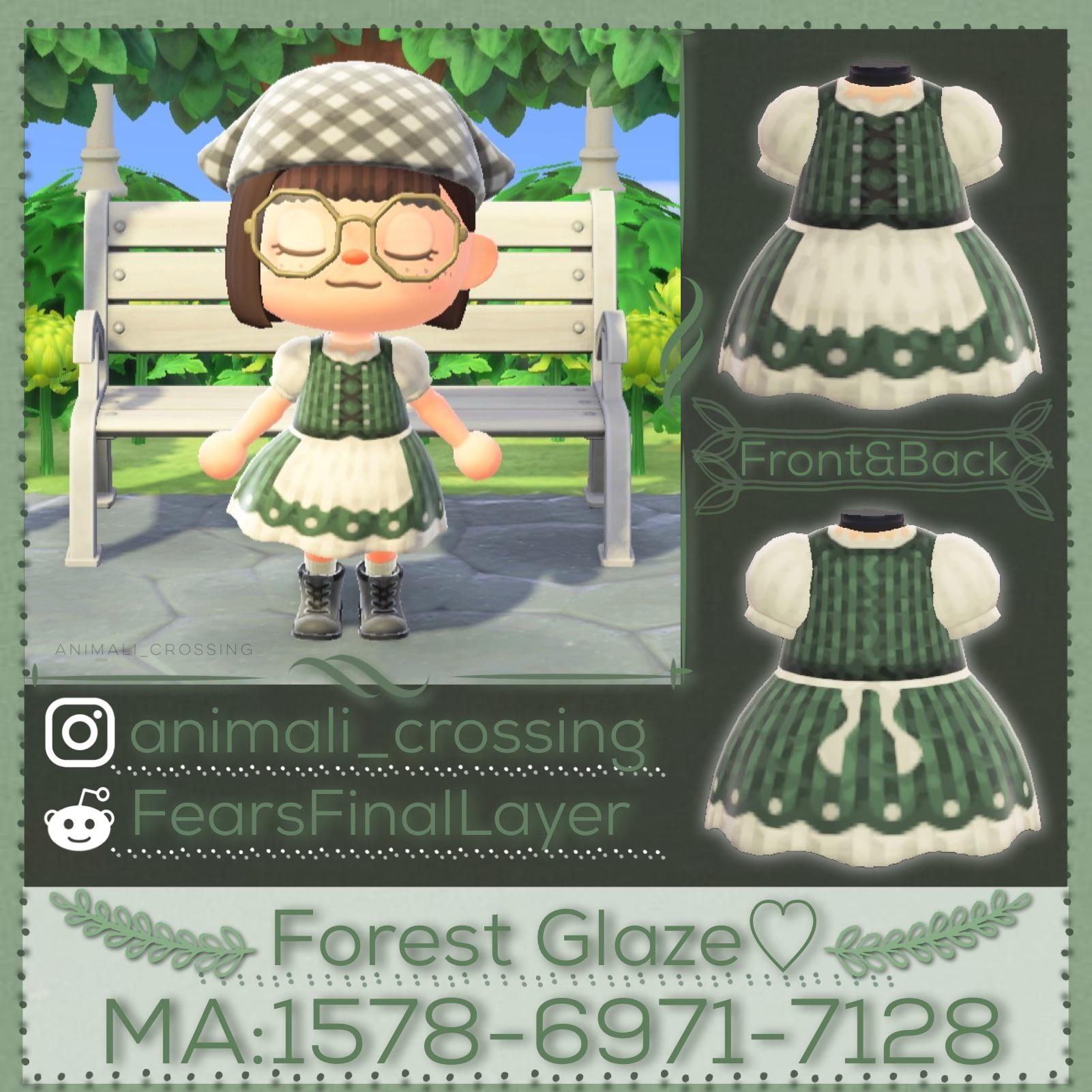 Did someone ask for a cottage-core outfit with an A-Prawn🦐? No? My crustacean puns may not fit, but Forest Glaze will as it's in all skin tones! As always, enjoy~<3