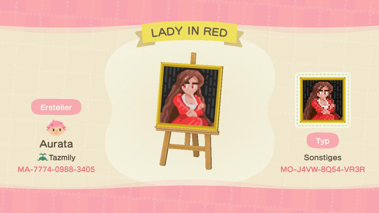 Due to the pandemic I decided to replay some of my favorite RPG Maker games and in the process created this pattern based on the Lady in red from the game Ib.