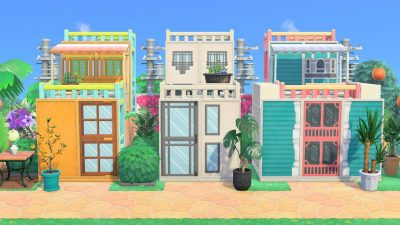 Animal Crossing: Feeling good about how my beach house designs turned out. All codes by me: MA-3737-1606-8372