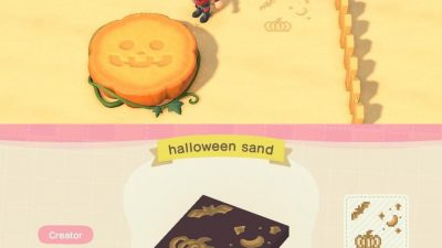 Animal Crossing: Halloween Sand Art