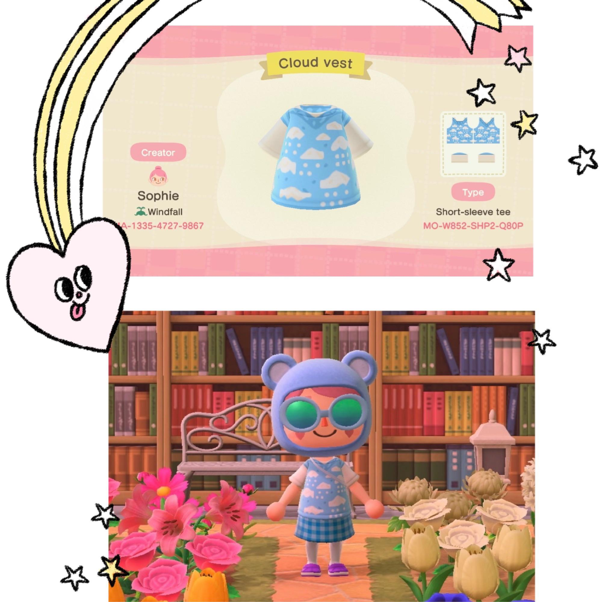 ✨🌧I have been obsessed with wearing my cloud sweater vest lately so I decided to make it in animal crossing🌧✨