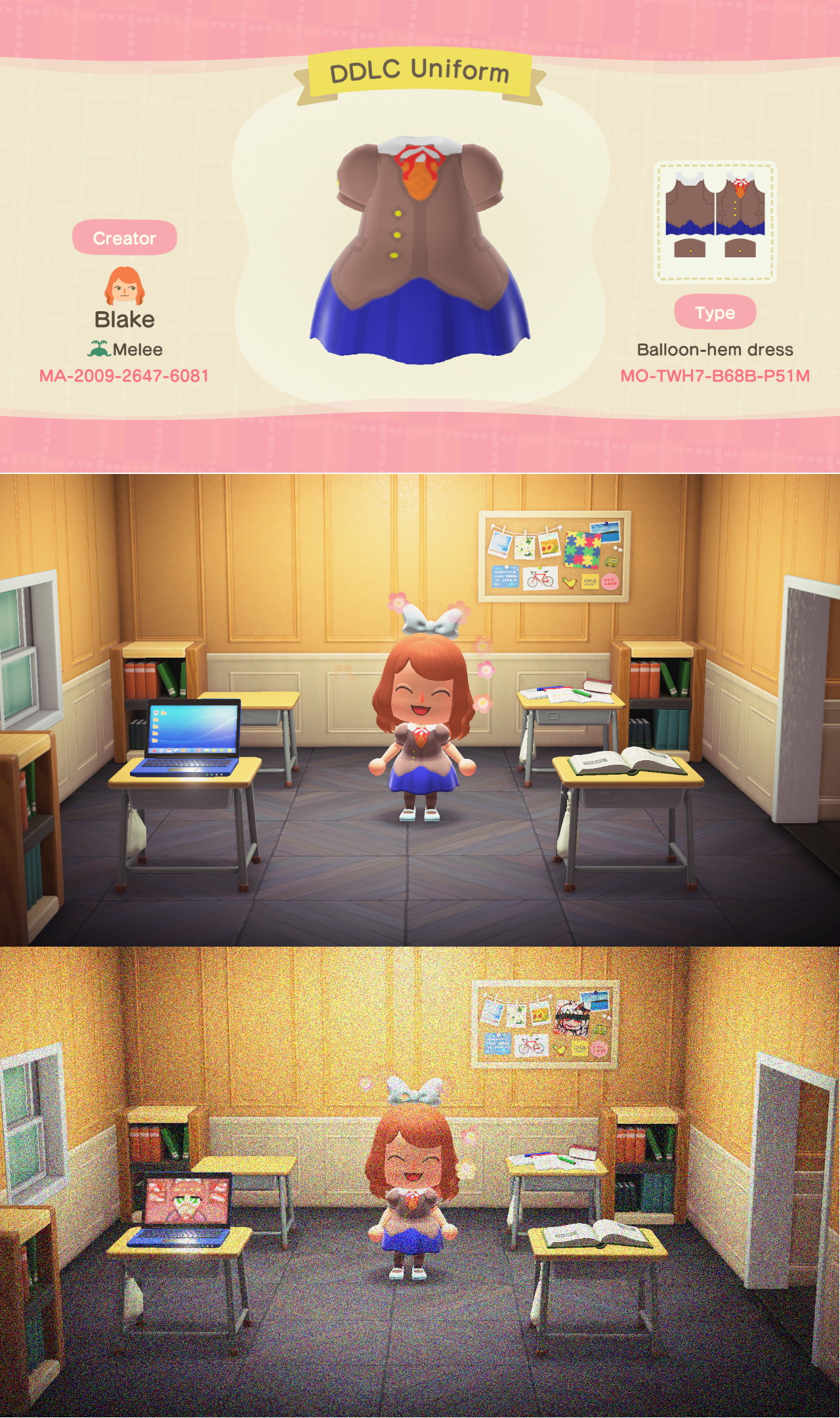 I made Monika's uniform from DDLC!