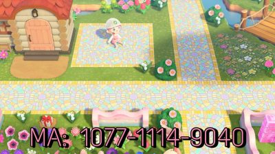 Animal Crossing: I made a mosaic path inspired by the happy home showcase from New Leaf!