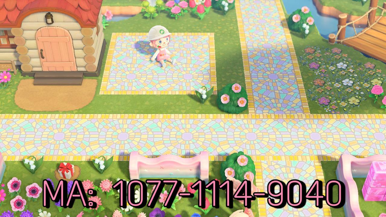 I made a mosaic path inspired by the happy home showcase from New Leaf!