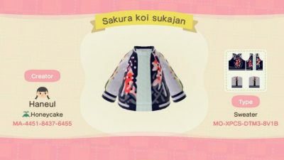 Animal Crossing: I made sakura sukajans! I absolutely love sukajans and I really wanted to wear one of them in the game