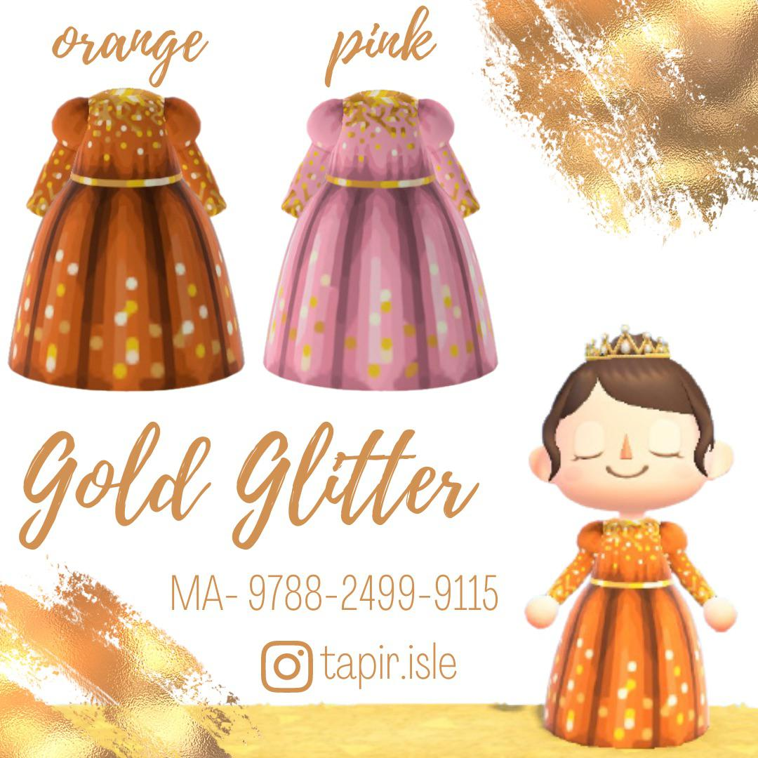I made some gold glitter dresses! ✨