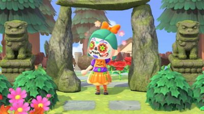 Animal Crossing: I made some tacky pumpkin-themed halloween clothes!