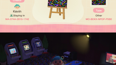 Animal Crossing: I made this floor for my basement arcade