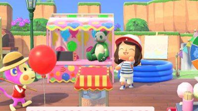Animal Crossing: I make little ballon in the background for a shooting range !