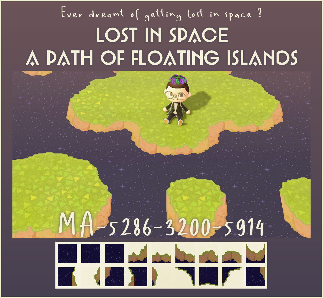 I saw someone making a path that made the ground look like islands floating in space, so I decided to try my hand at it!