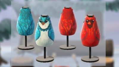Animal Crossing: Made some birds to decorate the island! Hope you like them.