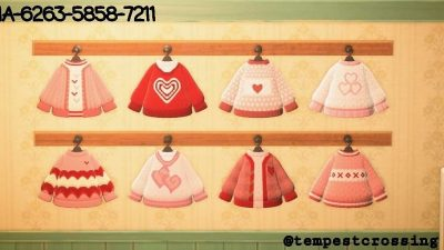 Animal Crossing: Made some cute Valentine's Sweaters for my Villagers 😊💕