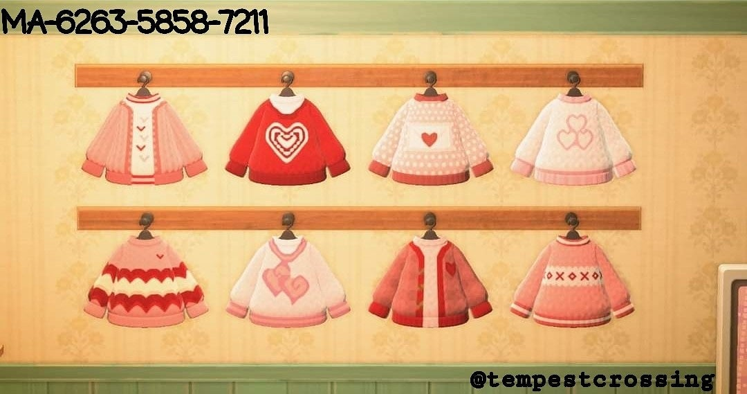 Made some cute Valentine's Sweaters for my Villagers 😊💕