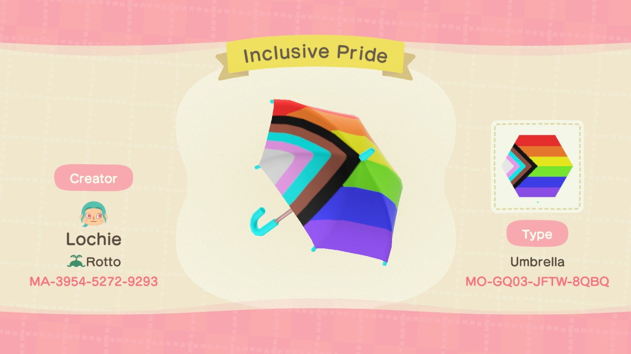 Made the Inclusive Pride Flag into an umbrella