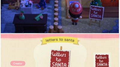 Animal Crossing: Made the dropbox into Santa's mailbox. Hope he likes tarantulas…