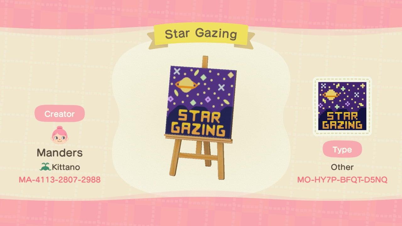 My Stargazing Sign!