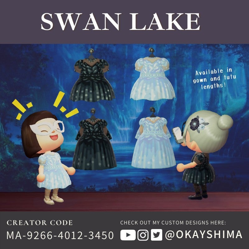 My Swan Lake dresses! Which would you wear, black or white?