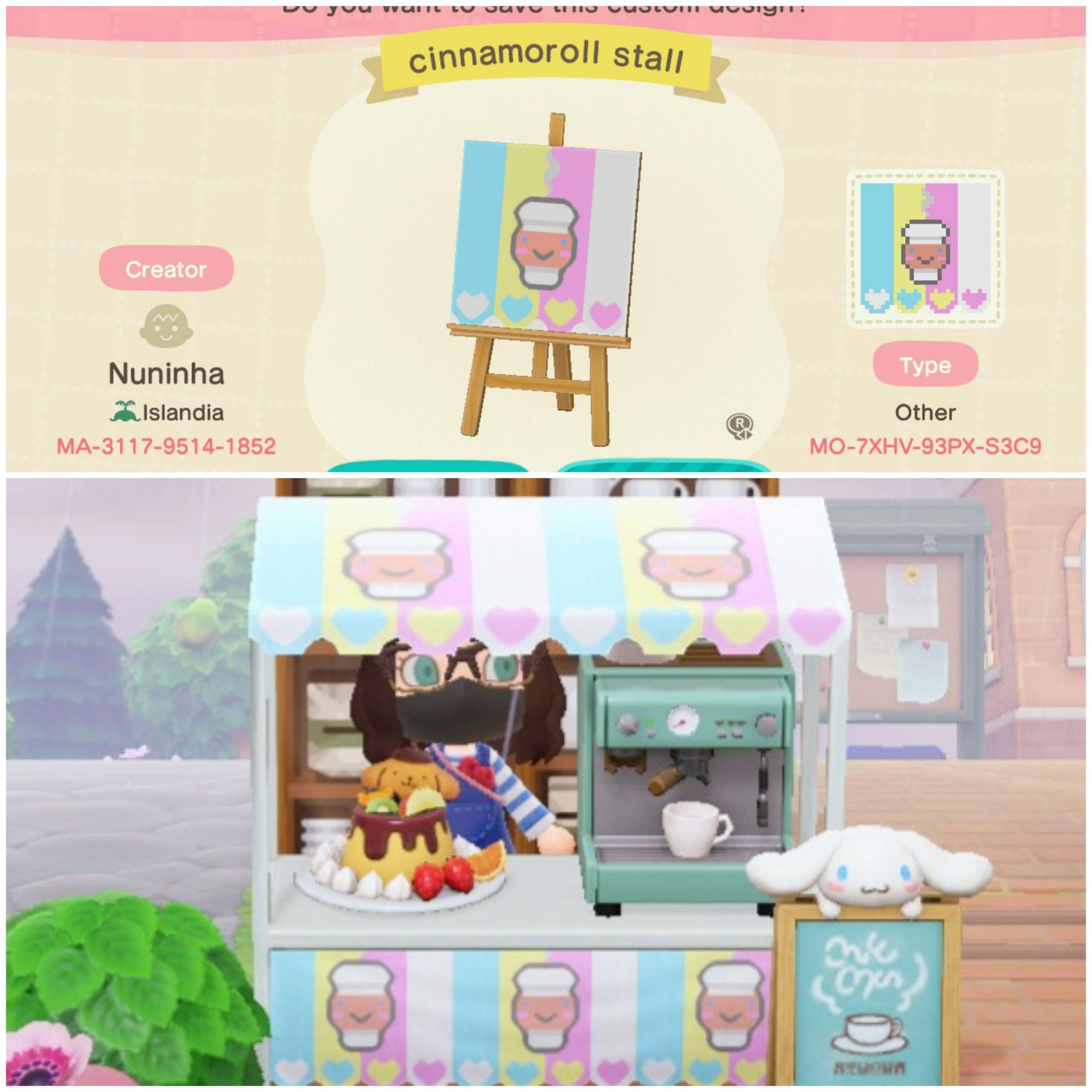 My first upload to the design portal - A Cinnamoroll Café stall