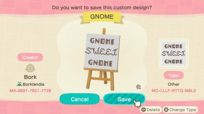 Animal Crossing: Not sure who could possibly need this but me, but a sign for a gnome village!