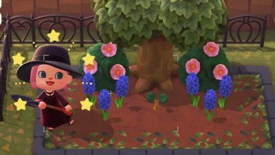 Animal Crossing: Ok I think I got this flower bed thing figured out. Border was from the kiosk MA-1937-0991-4297