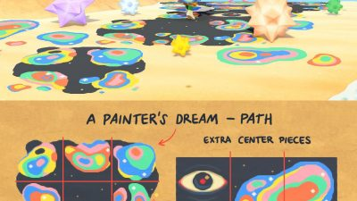 Animal Crossing: Paint spill path!