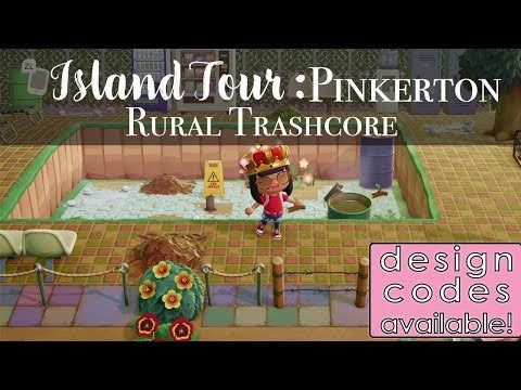 Sharing Design Codes used in this Trash Core / Trash Island Theme: Pinkerton (Popular Trash Island here in Reddit). Remember the Abandoned Pool?