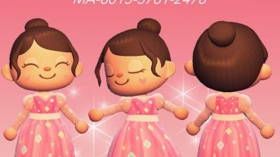 Animal Crossing: Sparkly pink dress made to look and feel like a dream! Comes in three sheer colors to match all skin tones 😊💖