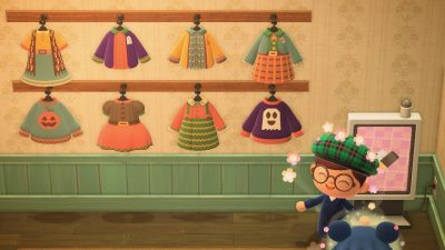 Animal Crossing: Super proud of my spoopy fall collection! I can post my creator ID if folks are interested 🎃🍄🍁