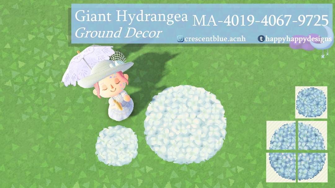 The newest addition to my giant flower collection, the hydrangea! Available as a single tile or 4-piece. 💐