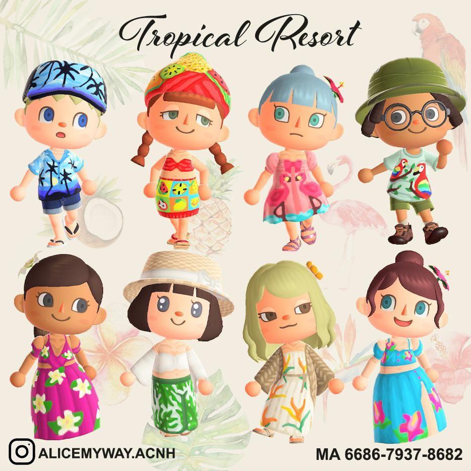 🌴Tropical Resort🌺 Some of my Cloth Collection for Tropical Island theme and Summer time. 🍍🌦💕🥰