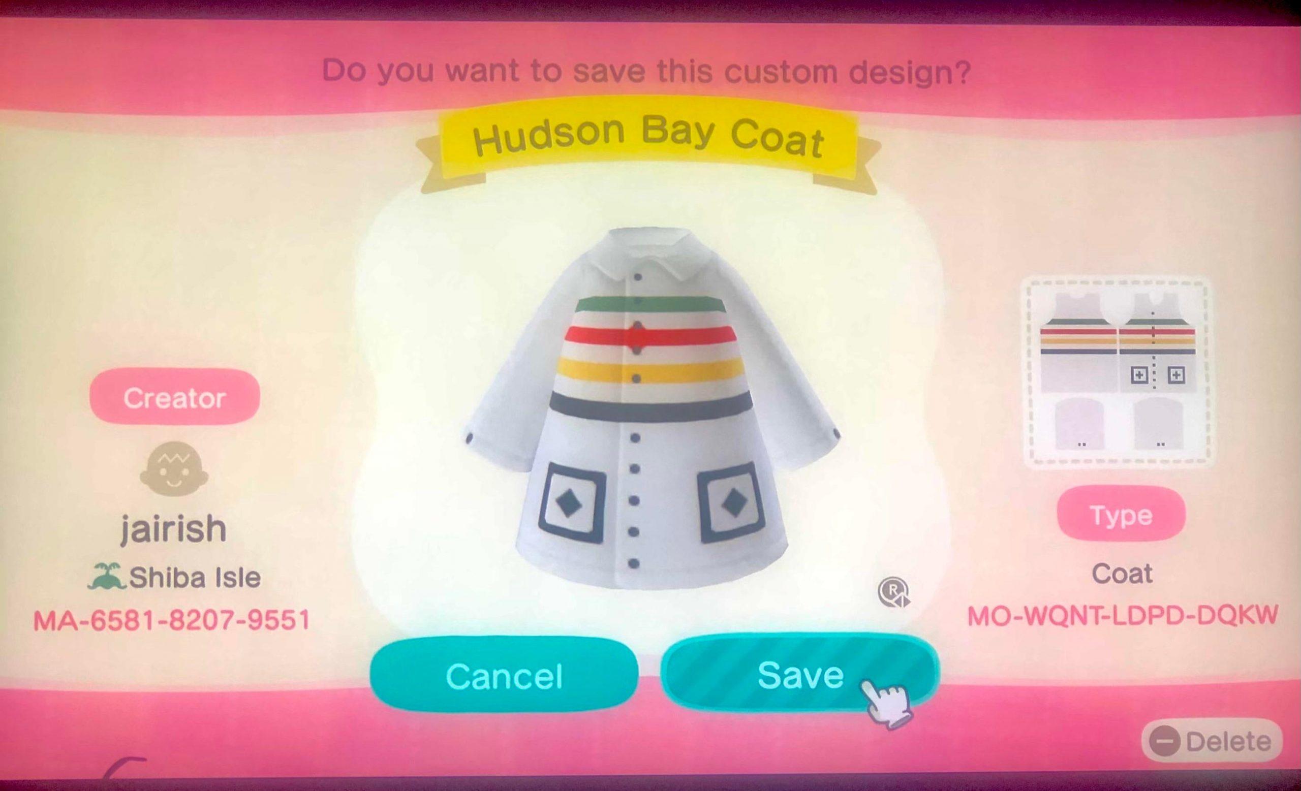 Vintage Hudson Bay Coat - 1st design! 😁