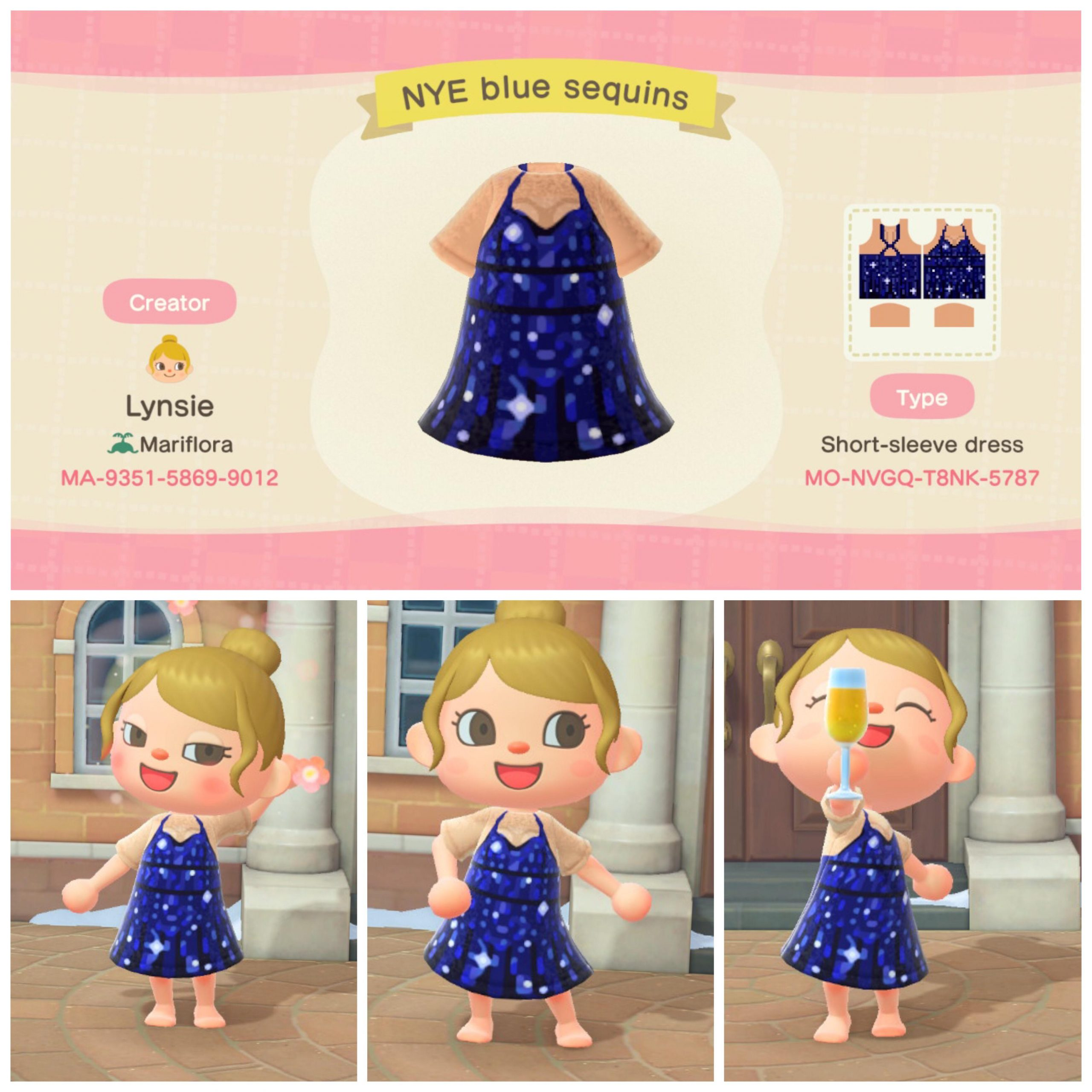 blue sequin New Year's Eve dress! Let me know if you want in other skin tones