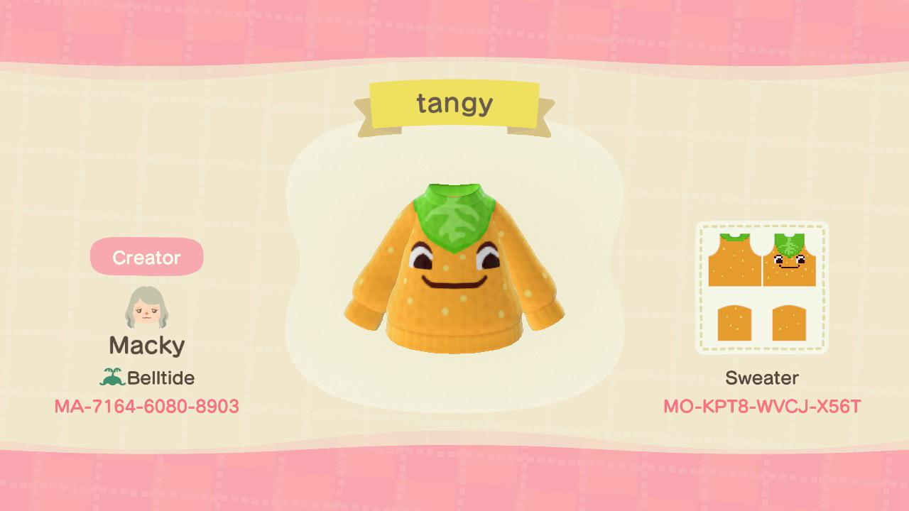 Animal Crossing: continuation of my villager sweater series, here's tangy per request!