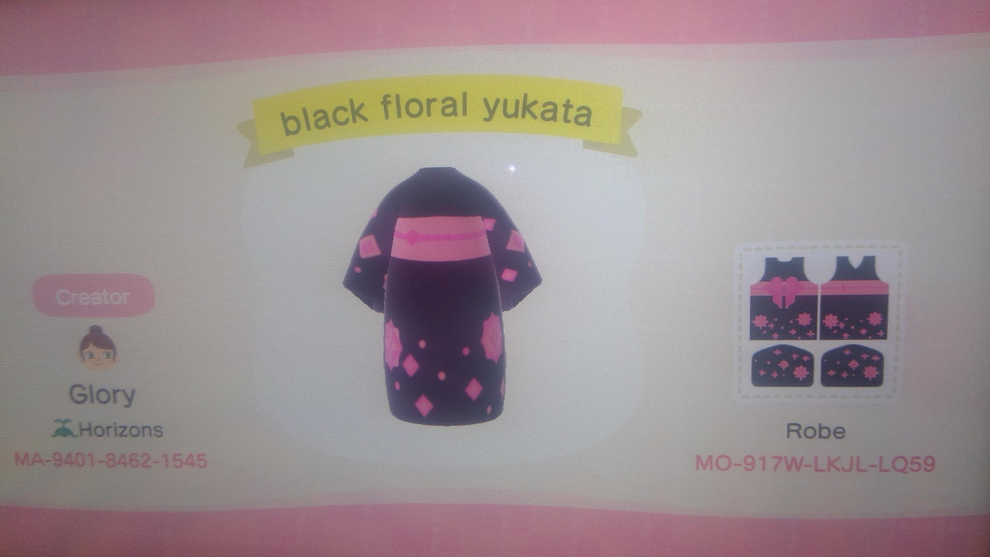 I haven't made a lot of clothing recently and didn't spend the most time on this but I made this floral yukata, I hope you enjoy it!