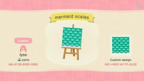 acnhcustomdesigns: mermaid things <3