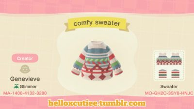 ACNH QR Acollection of cozy sweaters, enjoy!