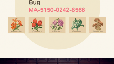 ACNH QR Codes acnh-qrcollection:flower signs for art walls / gardens
