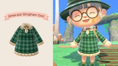 ACNH QR Codes Bidoof Crossing – qr-closet: gingham dresses ✨