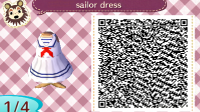 ACNH QR Aclassic nautical sailor dress, enjoy!