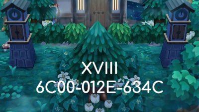 ACNH QR   XVIII @creme-toast   6C00-012E-634C