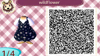ACNH QR   Inspired by the dress I wore on my birthday, enjoy!