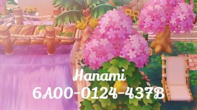 ACNH QR Hanami @mochi-moss   6A00-0124-437B