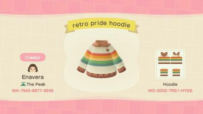 ACNH QR Codes qr-closet:retro pride hoodie 🏳🌈