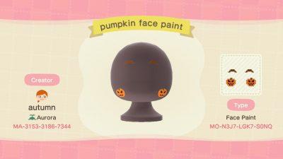 ACNH QR Codes Bidoof Crossing – autumnplaysacnh: Pumpkin face paint