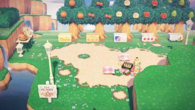 ACNH QR Codes Bidoof Crossing – qr-closet: orchard sign 🍒
