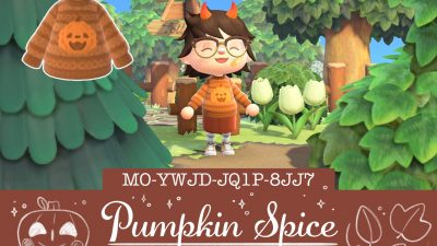 ACNH QR Codes ultravioletgame:  🎃 Pumpkin spice 🎃 Here's a cozy festive…